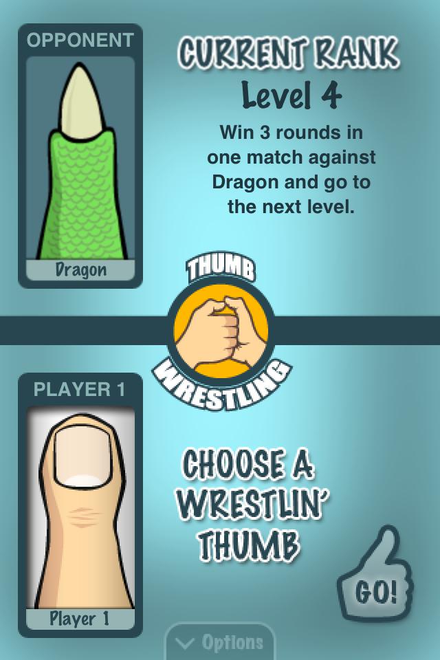 Thumb Wrestling screen
