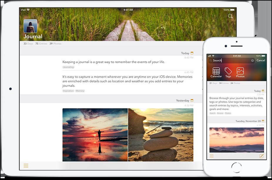 Written Down app iPad & iPhone screens